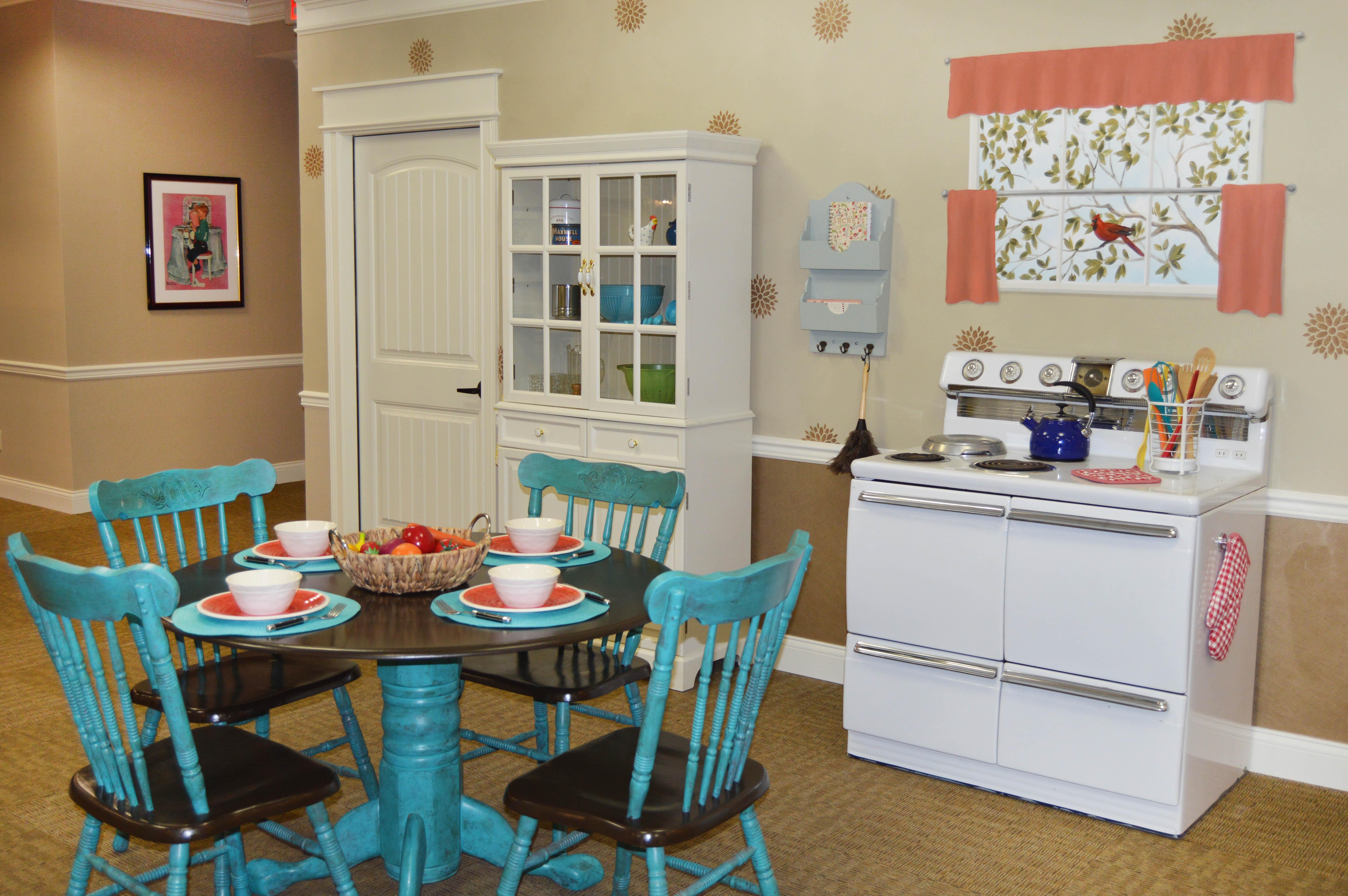 Louisville Lantern Kitchen Area Morning Pointe KY Senior Living